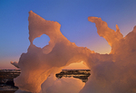 Icebergs along Hudson Bay at sunrise