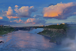 The American Niagara Falls at dusk