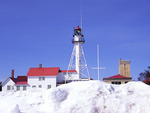 Whitefish Point Lighthouse in Winter  61690