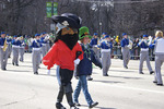 St Patrick's Day Parade Pirate Costume Character and Friendin Chicago Illinois  705692