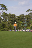 Tiger Woods on 14th Hole Fairway at Augusta National Golf Club during 2013 Masters at Augusta Georgia  821748