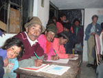 Literacy class in the Cotopaxi region of Ecuador. A.