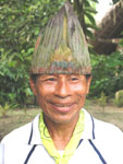 Hose, a traditional healer in the amazon rainforest