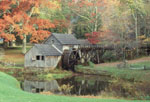 Autumn scene at Mabry Mill, Blue Ridge Parkway