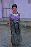 Young Guatemalan girl in traditional dress