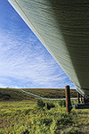 The Alaska oil pipeline crosses tundra and permafrost on the north slope of the Brooks Range, arctic Alaska