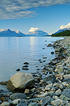 Summer evening on the shore of Lake Clark, Lake Clark National Park, Alaska