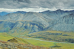 Early fall tundra and the Atigun River, Atigun Gorge, Arctic National Wildlife Refuge, Alaska