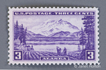 1937 - 3 cent Mount McKinley / Alaska commemorative postage stamp