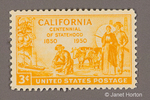 1950 - 3 cent California Centennial of Statehood commemorative postage stamp