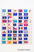 1976 - 13 cent Bicentennial State Flags commemorative postage stamp sheet