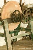 Antique sharpening wheel taken in the Blacksmith Shop
