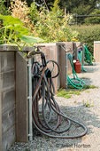 Issaquah, Washington, USA.  Watering stations at a community garden.