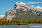 Banff National Park, Alberta, Canada.  Vermilion Lake with Mount Rundle in the background, outside Banff.