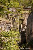 Footbridge overlooking Maligne Canyon near Jasper, Jasper National Park, Alberta, Canada