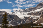 View and glaciers along the Icefields Parkway in Banff National Park, Alberta, Canada