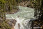Jasper National Park, Alberta, Canada.  Sunwapta Falls is a waterfall of the Sunwapta River.