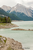 Icefields Parkway, Jasper National Park, Alberta, Canada.  Sunwapta River flowing near the Athabasca Glacier.