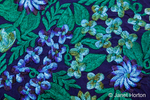 Floral embroidery pattern on fabric