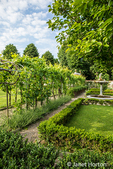 Florence, Italy.  Villa Olmi formal garden.