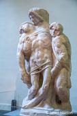 Florence, Italy.  Michelangelo Pieta statue 1940 at the Galleria dell'Accademia.