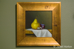 """Original classic still life oil painting of fruit on a table, called """"Nesting"""" by Jenna Quinn Lewis"""