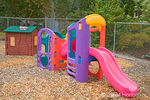 Preschool playground equipment (playhouse and climbing and sliding equipment) which is less than 5 feet high in Issaquah, WA