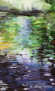 """""""Pool 2"""" watercolor painting created by Betsy Dahlstrom in February 2008."""