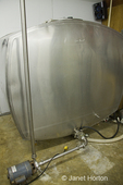 1500 gallon bulk milk tank to hold raw milk used in cheesemaking at River Valley Farm