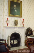 Marble fireplace and mantle and portion of circa 1860 Ulysses S Grant's living room.