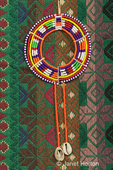 Medallian representing an African Maasai tribe neck ornament made of glass beads and wire