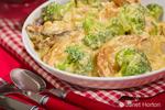 Bowl of Broccoli Potato Parmesan ready to eat