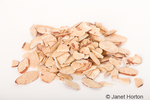 Pile of sliced almonds