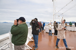People whale watching on the cruise ship Oosterdam