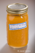 Jar of homecanned butternut squash soup