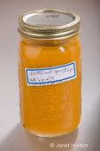 Jar of homecanned butternut squash soup