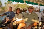 People enjoying a sundowner cruise on the Zambezi River
