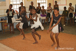 Children singing and dancing at Chintimba Primary School
