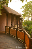 Walkways to rooms at the Cresta Mowana Safari Lodge