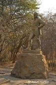 Livingstone monument near entrance to Victoria Falls