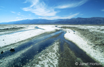 Saltflats and stream near Badwater
