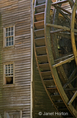Bale Grist Mill and water wheel
