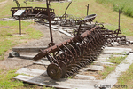 Antique harrows at Kirkwook Historical Ranch by the Snake River