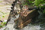 Antique water wheel at Kirkwood Historical Ranch by the Snake River
