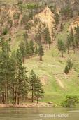 Eroded hillsides by the Snake River