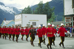 Canadian Mounties on parade