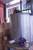 Honey extractor on display in West Seattle Produce Market