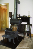 Halfway or step stove, circa 1860, in Ulysses S Grant's home, circa 1860
