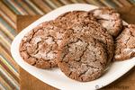 Plate of chocolate sugar cookies