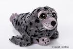 Stuffed harbor seal